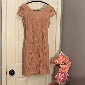 Rose Colored Tight Dress